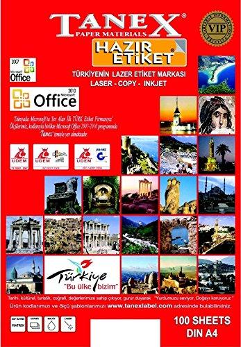 TANEX TW-3117 DVD/CD/Blu-ray Etichette multimediale bianco 117 mm 25 Bl. (Getto D'inchiostro Bianco Cd Dvd Etichette)