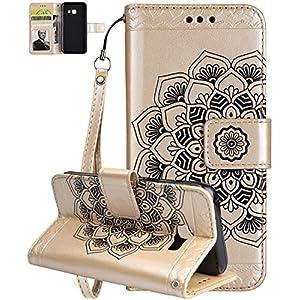 Roreikes Samsung Galaxy A5 (2017) Hülle (5.2Zoll) Silikon, Flip PU Leder Case
