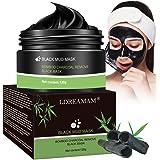 Black Mask,Peel off Maske,Blackhead Maske,Anti Mitesser Bambus Holzkohle Tiefenreinigung Porenreinige Ölkontrolle für Herren und Damen Black Face Mask
