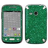 atFolix Samsung Galaxy Young (GT-S6310) Skin FX-Glitter-Green-Mile Designfolie Sticker - Reflektierende Glitzerfolie