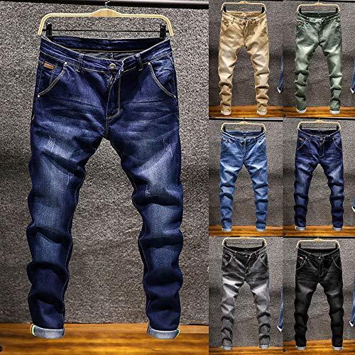 Pantaloni-Sportivi-UomoPantaloni-Uomo-Slim-Fit-Tuta-SportivaPantaloni-Jeans-Uomo-Jogging-Leggings-Uomo-Casuale-Autunno-Denim-cotone-Vintage-Lavaggio-Hip-Hop-Lavoro-Jeans-Pantaloni