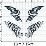 Set von 3 Mode Engels-Dämon-Flügel-Körper-Tätowierung Aufkleber Gefälschte