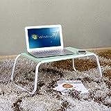 TH Laptop Tisch Bett Verwenden Sie Kleine Tabelle Dorm Zimmer Notebook Computer Schreibtisch Balkon Erker Schreibtisch (Farbe : Green)