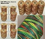 Nuovo, confezione da 10colore arcobaleno extra forte grande rocchetti di filo in nylon mano quilting ricamo cucito in nylon per cucire accessori forniture regali ricamo fili