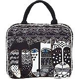 Laurel Burch Wild Cat Black & White Cosmetic Travel Tote (Wild Cats Black &