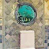 Pegatinas de paredPapel de pared pegatinas hotel de aseo barra de café club nocturno tienda de comida rápida decoración producto submarina mundo (45 * 45cm)
