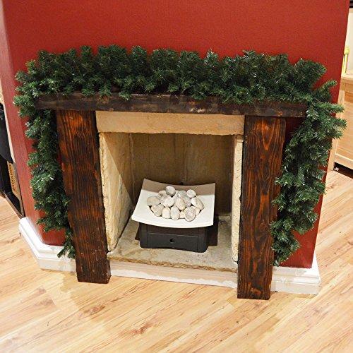Premier 270cm (9ft) x 25cm Plain Green Christmas Garland Decoration Test