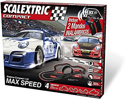 Scalextric Compact - Circuito Compact Max Speed inalámbrico (C10166S500)