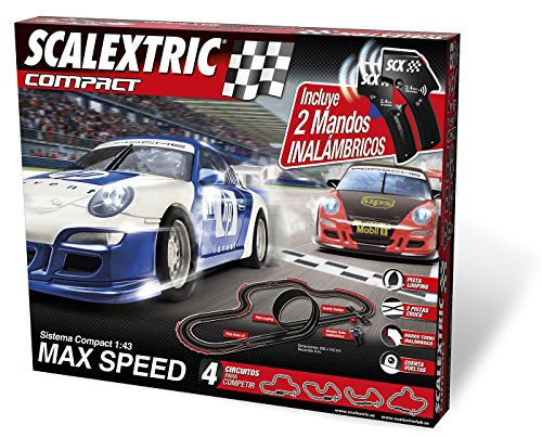 Scalextric Compact - Circuito Compact Max Speed inalámbrico (C10166S5