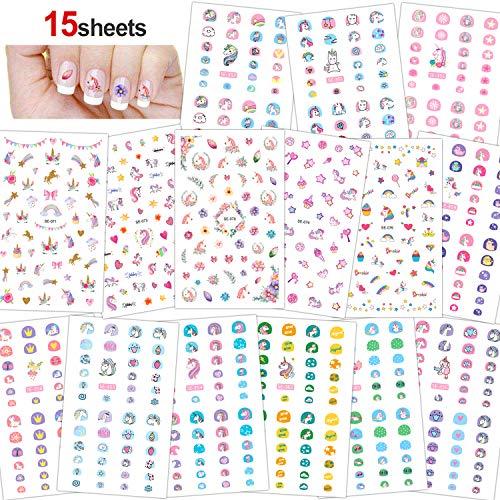 Konsait 3D Design Einhorn Nagel Sticker selbstklebende Aufkleber nagel Tattoo Abziehbilder DIY Nail...