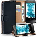 OneFlow Tasche für HTC One V Hülle Cover mit Kartenfächern | Flip Case Etui Handyhülle zum Aufklappen | Handytasche Schutzhülle Zubehör Handy Schutz Bumper in Schwarz