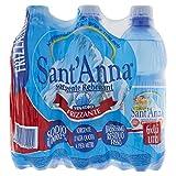 Sant'Anna - Blister d'Acqua Minerale Frizzante - Confezione da 6 Bottiglie di Plastica Ciascuna da 500 ml