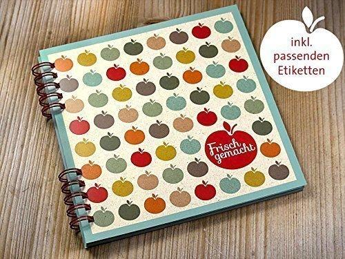 DIY handgemachtes Kochbuch Rezeptbuch Frisch gemacht zum Selberschreiben inkl. 20 Etiketten (Handgemachte Etiketten)