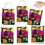 German Trendseller® 12 x Geschenke Party Beutel - Halloween Party Tüten - mit Henkel - zum Befüllen ┃ Kindergeburtstag ┃ Mitgebsel ┃ 12 Stück