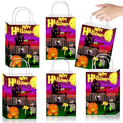 12 x Geschenke Party Beutel - Halloween Party Tüten - mit Henkel - zum Befüllen ┃ Kindergeburtstag ┃ Mitgebsel ┃ 12 Stück ()