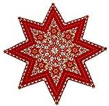 Weihnachtstischdecke, Stern 85cm moderne glatter Stoff ,rot ,auch als Stern 60cm , Stern 40cm Stern30cm, pflegeleichte Serie WD511