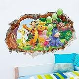Aokeshen 23.23*9.06inches Winnie l'ourson sticker mural amovible réutilisable pour Enfants / Garçons / Filles / Décoration/Maison/Chambre à coucher etc en PVC