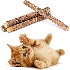 Leegoal Katzenminze Katzenspielzeug 5 Sticks,Fördert Den Spieltrieb,Katzenminzsticks Unterstützen Eine Natürliche Zahnpflege,Verhilft Bei Mundgeruch & Zahnstein