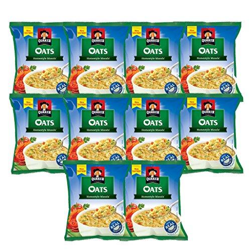 Quaker Homestyle Masala Oats, 40g Each (pack Of 10)