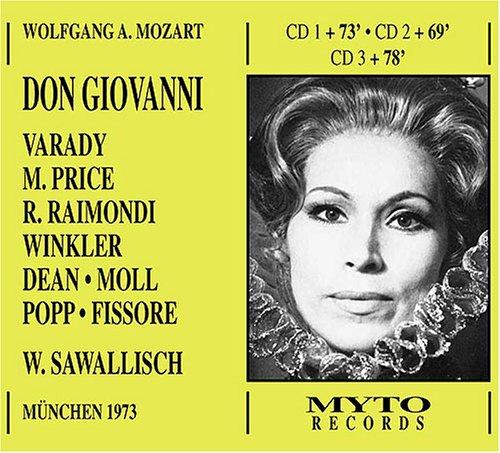 Mozart - Don Giovanni / Varady · M. Price · Raimondi · Winkler · Dean · Moll · Popp · Fissore · Sawallisch [Munich 1973 Live] [Import anglais]