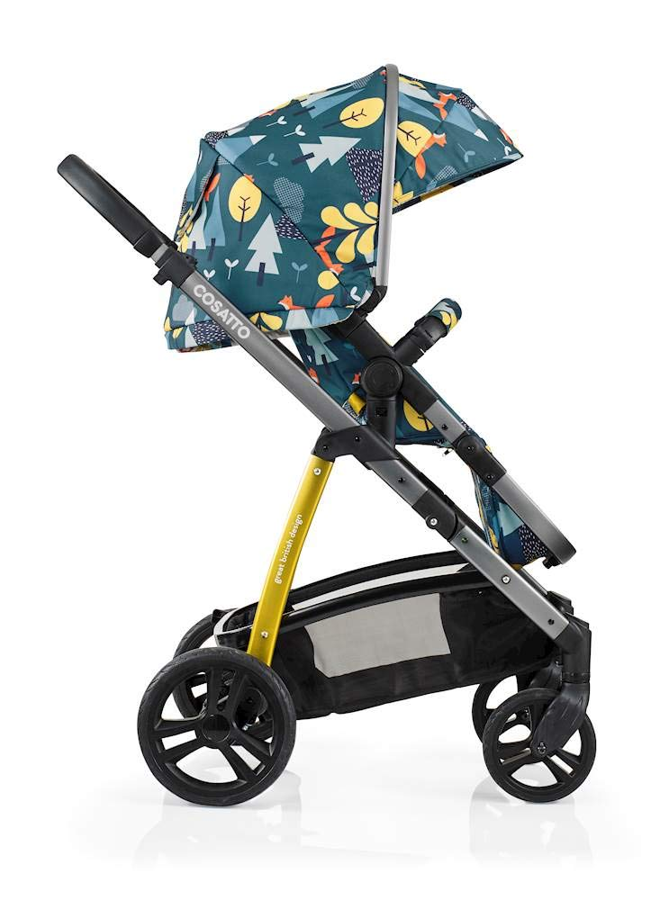 Cosatto Wow Pram and Pushchair, from Birth Carrycot and Pushchair Suitable upto 25 kg, Fox Tale Cosatto Backed by science, Cosatto prams are ideal for your baby; the patterns in Cosatto hoods are designed to stimulate your baby with bright, eye-catching colour and storytelling pattern Includes the from-birth carrycot (suitable for occasional overnight sleeping), then swap to pushchair unit, suitable up to 25 kg, with parent and world facing options and four recline positions Easy one-handed features, push-button carrycot removal, seat recline and calf support 5