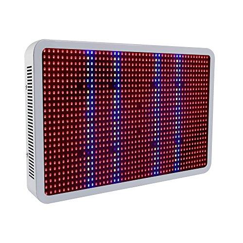 XJLED LED Grow Light Panel Full Spectrum, 277led, con lampada UV/IR, 5730smd, per piante da giardino serra idroponica coltivazione, metallo, White, 1200W Panel