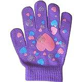 Guanti invernali maglia stretta super morbidi da ragazza Purple Taglia unica