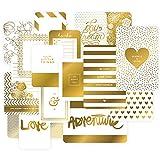 Golden tema bolsillo tarjetas de recortes