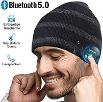 HANPURE Bluetooth Mütze Damen & Herren Geschenk, Bluetooth 5.0 Kopfhörer Mütze, Mikrofon für Freisprechanruf, Musik,...