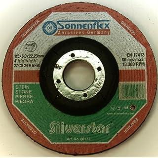 Sonnenflex Silverstar Schruppschleifscheiben für Stein, 115 x 6 x 22,23 mm, CS 24 R BF