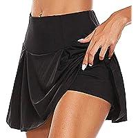 BEIFON Women's Active Athletic Skort Fashion Stretchy Sports Skort Sexy Running Skirt Trouser Skirt Lightweight Skirt…