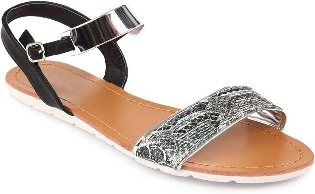 La Modeuse Sandales Vernies à Talon carré et épais: Amazon