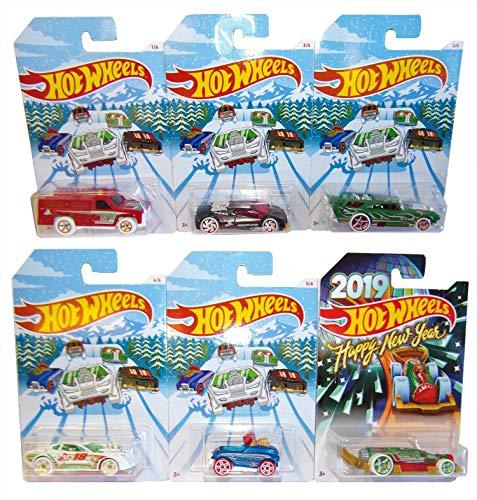 (Mattel-Hot Wheels Holiday Hot Rood 6er Pack Winter 2018 Modell-Autos für Kinder und Sammler)