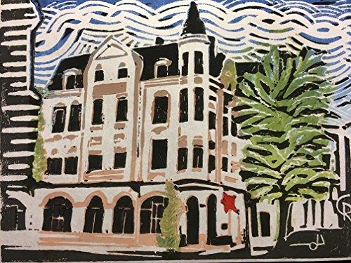 Hart Backbord Bremen Walle - Linolschnitt, von Hand einzeln gedruckt, etwa 15x20cm, Limitiert auf 10...