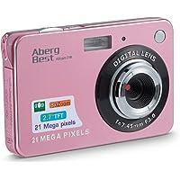 """AbergBest Fotocamera digitale 2,7"""" schermo LCD Videocamera digitale in HD per studenti, per ambienti interni o esterni…"""