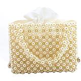 LETODE Handgefertigte Damen-Handtasche mit Perlen, für Hochzeit, Party, schöne luxuriöse Geldbörse