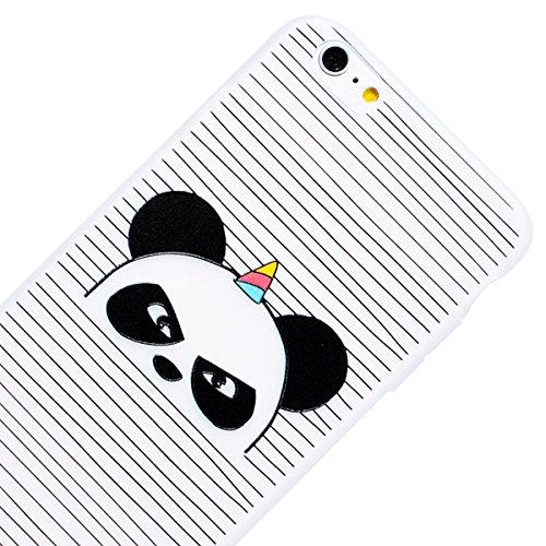 WE LOVE CASE Coque iPhone 6 Plus, Souple Gel Coque iPhone 6S Plus Silicone Motif Fine Coque Girly Resistante, Coque de Protection Bumper Officielle Coque Apple iPhone 6 Plus iPhone 6S Plus Fille Panda