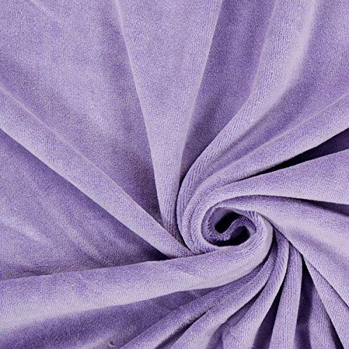 Fabulous Fabrics Nicki Stoff Uni - Flieder - Meterware ab 0,5m - zum Nähen von Kleider, Pullover und Sweatshirts 20% Polyester Sweatshirt