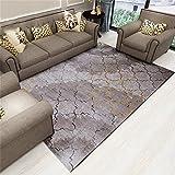 QAZ Hochwertige Super weiche Decke Nordic Einfache moderne Wohnzimmer Couchtisch Wolldecke Stripes Einfache Europäische rechteckige Schlafzimmer Bett Fußbodenbelag (Größe: 82 cm * 122 cm) Nordischen Designer Rutschhemmende Nicht reizend Teppich (Farbe: #5)