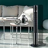 #3: Crane Ultra Slim Ceramic Oscillating 46 Inch Tower Fan with Digital LED Display and Wireless Remote Control - Black