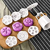 Moon Cake Mold with 6 Stamps - Mid Autumn Festival DIY Decoration Press 50g, Cookie Stamps, Cake Cutter Mold, Cookie Press