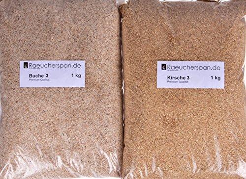 Räucherspäne Räuchermehl, Kirsche und Buche Typ 3, Sparbrand geeignet