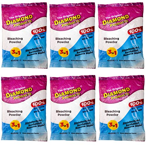 Sunshine Diamond Bleaching Powder 3 in 1 Disinfection Sanitation Stain Remove Effective & Stain Free (100 gm, White) (600 gm)