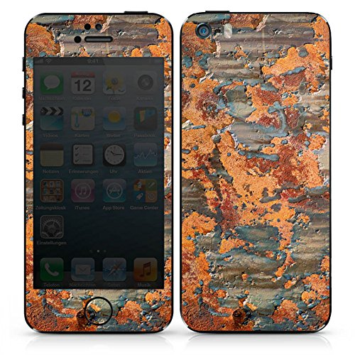 Apple iPhone SE Case Skin Sticker aus Vinyl-Folie Aufkleber Rost Look Struktur DesignSkins® glänzend