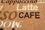 Teppich Modern Flachgewebe Gel Läufer Küchenteppich Küchenläufer Braun Beige Schwarz mit Schriftzug Coffee Macchiato Cappuccino Espresso Größe 80 x 300 cm - 4
