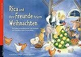 Image of Rica und ihre Freunde feiern Weihnachten mit Stoffschaf: Ein Folien-Adventskalender zum Vorlesen und Gestalten eines Fensterbildes