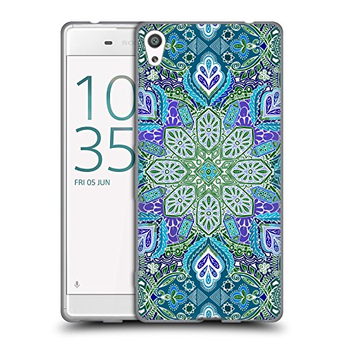 Official Micklyn Le Feuvre Peacock Summer Mandala Soft Gel Case for Sony Xperia XA Ultra/Dual