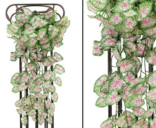 Kletterpflanze, Begonia Busch, dicht mit 180 Blätter, Höhe 60cm – Kunstpflanze Kunstbaum künstliche Bäume Kunstbäume Gummibaum Kunstoffpflanzen Dekopflanzen Textilpflanzen