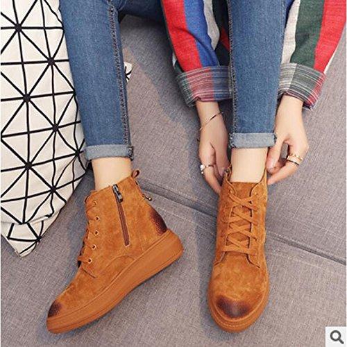 0b30feca4e5d Hsxz Chaussures Femme Pu Automne Hiver Confort Bottes Plat Round Toe Cheville  Bottes   Bottines Vêtements
