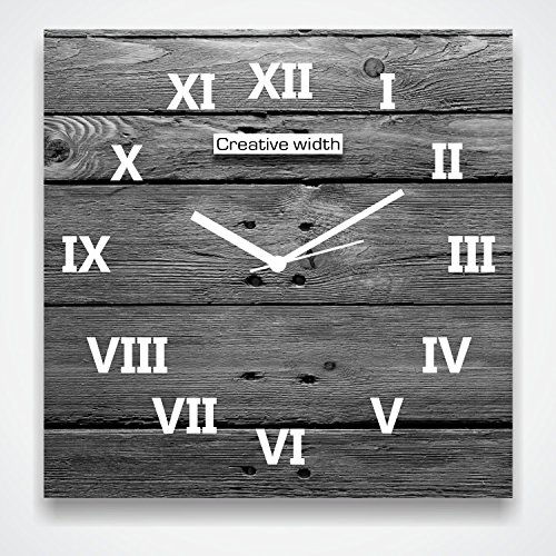 Vintage Numbered Grey Wall Clock